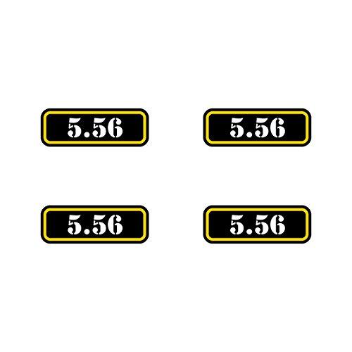 ((4x) 5.56 Ammo Can Sticker Set Decal molon labe bullet 556 type 2 FA)