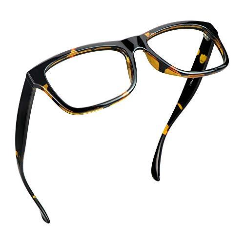 LifeArt Blue Light Blocking Glasses, Anti Eyestrain, Computer Reading Glasses, Gaming Glasses, TV Glasses for Women and Men, Anti Glare (Tortoise, 0.75 Magnification)