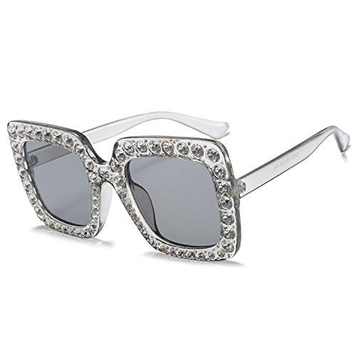 Neue Strass Sonnenbrille KLXEB C3 Sonnenbrille Sobredimensionado C5 Kristall Frauen Diseñador Matices Spiegel Marke 8xdqwYZOd