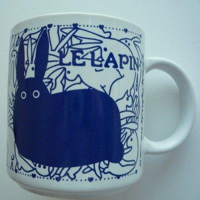 Vintage French 11 oz. Le Lapin (Rabbit) Mug -