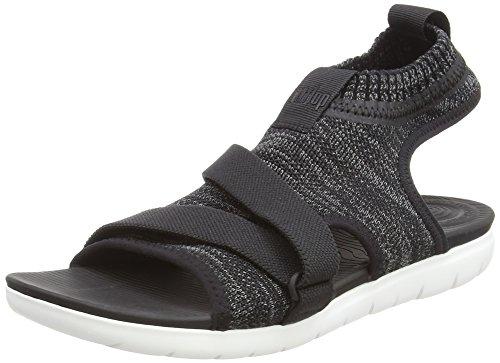 Multicolour Grey Women's Sandals Back Soft Fitflop Ankle Uberknit Strap Black 546 F4Hnqac