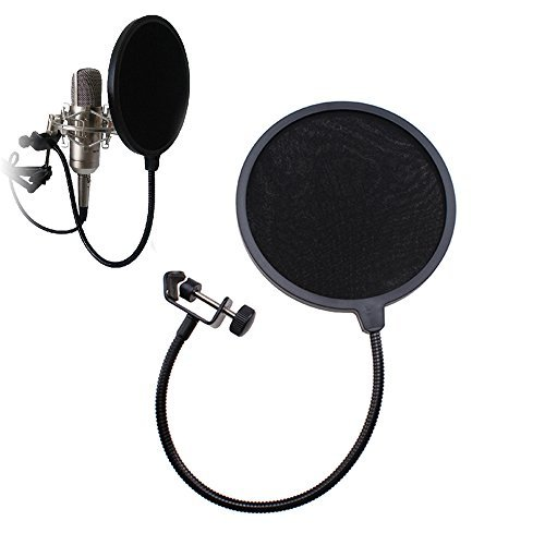 Image 6  Flexible Studio Microphone Mic Pop Wind Screen Filter With 360  Flexible Gooseneck And Metal Stabilizing Arm