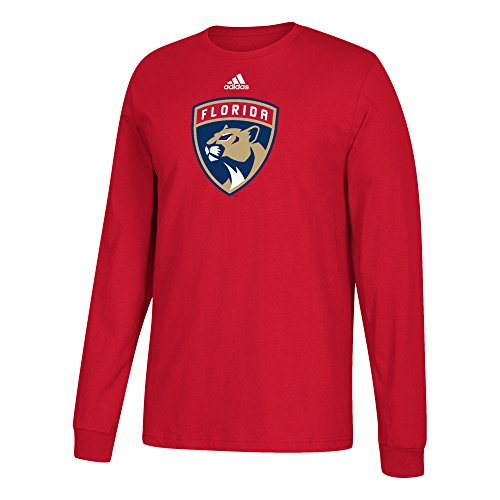 fan products of NHL Florida Panthers Adult Unisex Primary Logo Stand Out L/S Tee, Large, Red