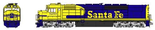 EMD SDP40F TYPE IVA - STANDARD DC -- SANTA FE #5250 for sale  Delivered anywhere in USA
