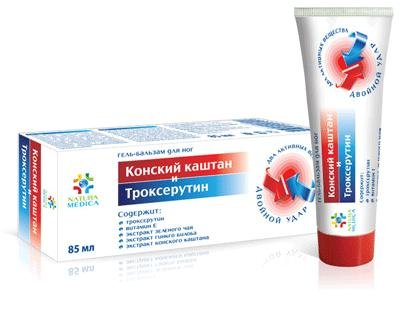 """Horse Chestnut et Troxerutin"" Foot Gel-Baume 85 ml"