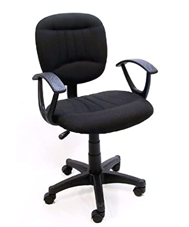 Black Fabric Office Chair W/Arms, Gas Lift U0026 Great Student
