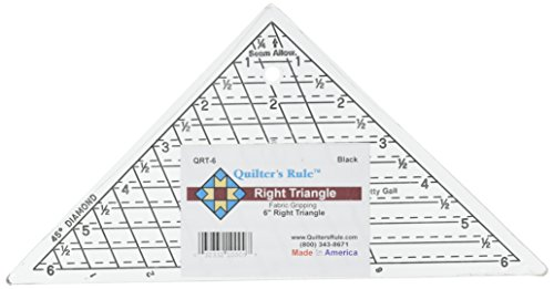 (Quilter's Rule Mini-Triangle Quilter's Ruler-6-3/4 X6-3/4 X9-1/2)