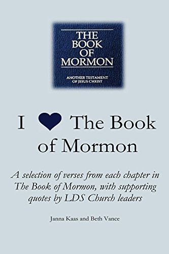 I Love The Book Of Mormon A Selection Of Verses From Each Chapter Impressive Book Of Mormon Quotes