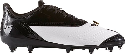 adidas Men's Adizero 5-Star Sunday's Best Prom Football Cleats (White/Black, 13 D(M) US) (Adizero 5 Star Sunday's Best)