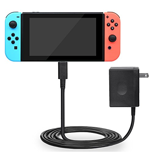 BEBONCOOL Nintendo Switch AC Adapter, Nintendo Switch Charger with 5 FT Charging Cord and 15V 2.6A Type C AC Adapter for Switch Pro controller Dock Station (Support Nintendo TV Mode) Review