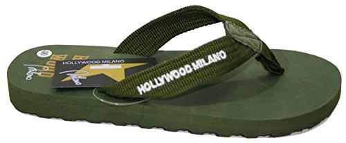 HOLLYWOOD MILANO , Herren Zehentrenner Grün militär-grün 41