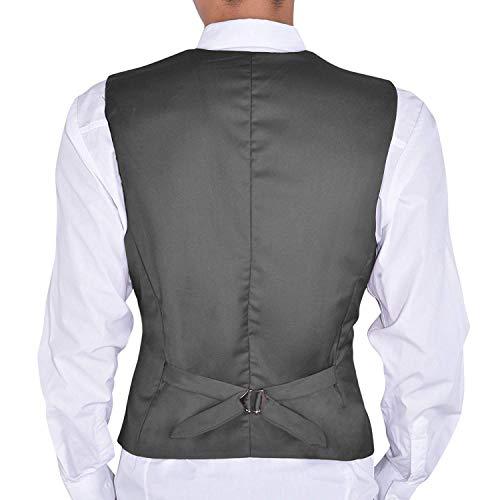 Tuxedo Décontracté Avec Garçons Essentiel Formelle Mariage Slim Grau Gilet D'affaires Hommes De Business Fit CzRwqC