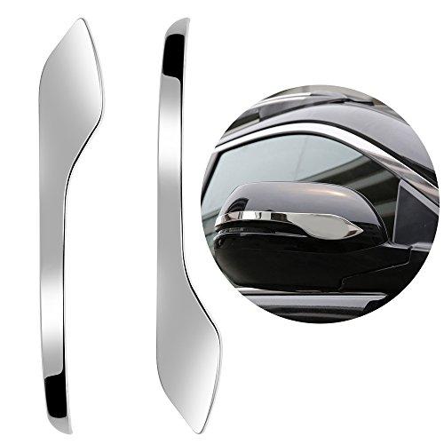 - 2 PCS Chrome Steel Rearview Mirror Side Molding Cover Trims For 2017-2018 Honda CRV CR-V