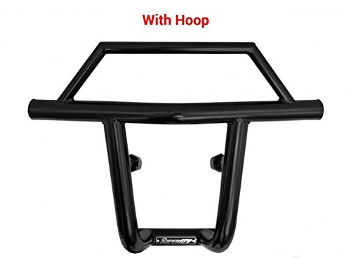 (Can-Am Maverick Front Bumper with Hoop - Wrinkle Black)