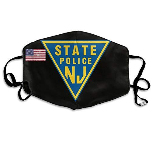 NJ State Police Unisex Face Masks Dust Mask Reusable Fashion Masks Anti-Dust Flu Mouth -
