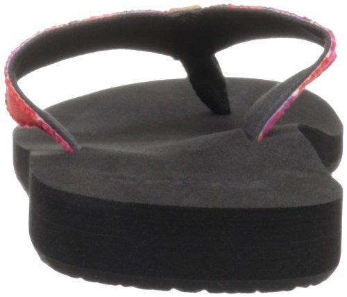 Reef GUATEMALAN LOVE BLACK/HOT PINK - Chanclas de material sintético mujer negro - Schwarz (BLACK/HOT PINK)