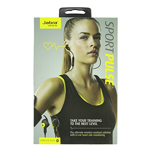 Jabra Sport Pulse Bluetooth Earphones with Heart Rate Monitor Black SUPM44449