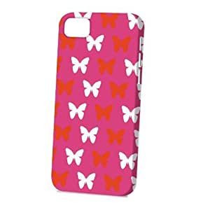 Case FunDiy For Touch 4 Case Cover Vogue Version - 3D Full Wrap - Pink Butterflies