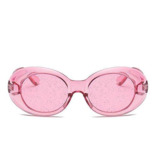 Tonos Sol Lentes Protección G469 De Señoras Mujer Pink Colors C1 TIANLIANG04 De Claro La Solar C7 Brillantes Gafas Gafas Candy Oval awZ707vPq