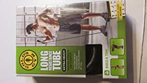 Amazon.com : Gold's Gym long Resistance Tube with Exercise ...
