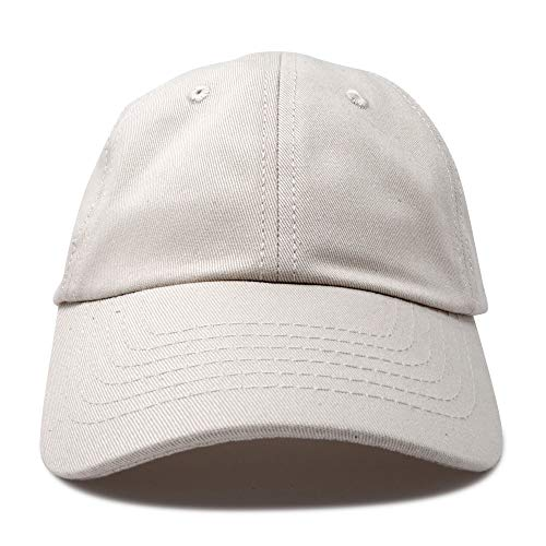 e104f9f1e6e DALIX Unisex Youth Childrens Cotton Cap Adjustable Plain Hat - Unstructured  (Beige) at Amazon Men s Clothing store