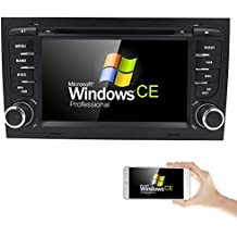 "Car GPS Navigation Stereo Audi A4 S4 RS4 B6 B7 Seat Exeo DVD Player Bluetooth Radio RDS USB SWC iPod SD 7"" Capacitive Touch Screen"