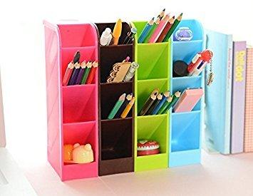 Lani Ang Multifunction Four Grid Candy-colored Desktop Debris Storage Organizer Box for Office,stationery Pen, Socks, Make up Tools(set of 4)