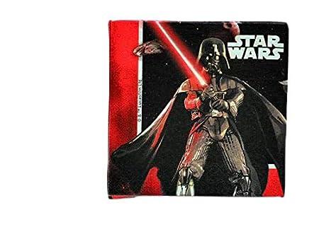 ALMACENESADAN 9972, Pack decoración Fiesta o cumpleaños Disney Star Wars; 1 piñata, 1 Mantel Fiesta plástico 120x180cm y 20 servilletas de Papel