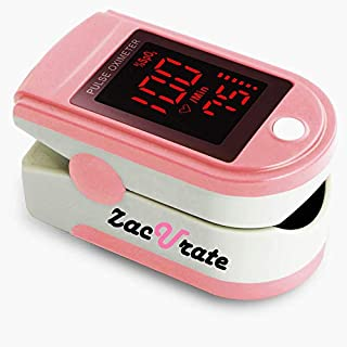 Zacurate Pink Series Fingertip Pulse Oximeter and Blood Oxygen Saturation Monitor (Peach Pink)