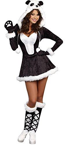Panda Bear Baby Womens Costume Sm Halloween Costume (Sexy Panda Costume)