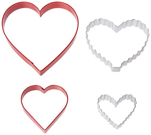 (Wilton 2308-0926 From The Heart Nesting Cookie Cutters, Set of 4)