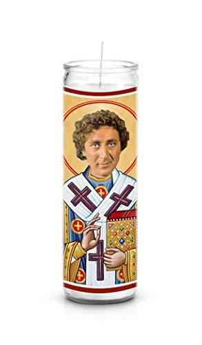 Celebrity Prayer Candles Gene Wilder Funny Saint Candle - 8 inch Glass Prayer Votive - 100% Handmade in USA - Novelty Celebrity -
