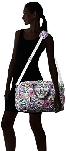 41UQgzx6dAL - Vera Bradley Iconic Compact Weekender Travel Bag, Signature Cotton, Lavender Meadow