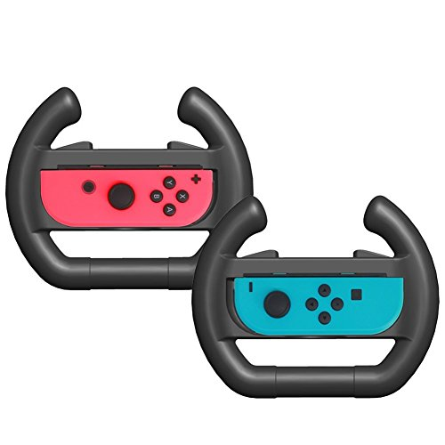 Joy-Con Steering Wheel, Left & Right Controller Direction Manipulate Steering Wheel Grip Handle for Nintendo Switch Controllers (Mancala Directions)