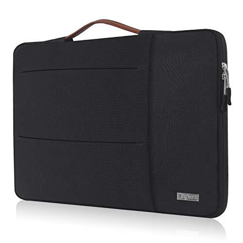 Egiant 15.6 Inch Laptop Handbag Briefcase with Shockproof Bubbles Compatible F555LA X551, Aspire, Inspiron, Pavilion Chromebook,Water Repellent Multifunctional Notebook Sleeve Bag,Black