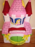 4' Disney Princess Happy Birthday Inflatable Castle by Gemmy
