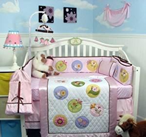 SoHo Happy Fairy World Baby Crib Nursery Bedding Set 14 pcs included Diaper Bag (Fairy Crib)