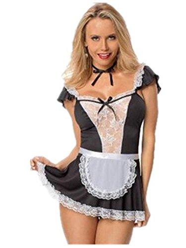 Damen Reizwäsche Bikini Nachthemd Schlafanzuege Erotik Spitze Sleepwear Negligee Kostüm Lingerie Babydoll Sexy Dessous-Sets