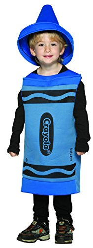 [Rasta Imposta Crayola Toddler Costume, Blue, 3-4T] (Rasta Baby Costume)
