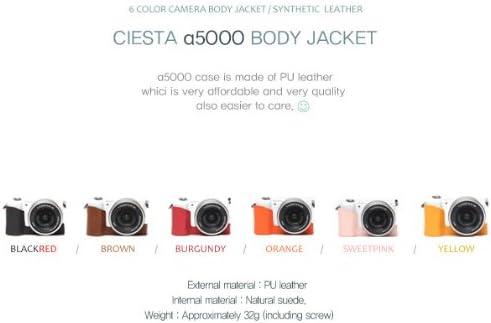 Ciesta Funda de piel sintética mitad funda para Sony A5000 ...