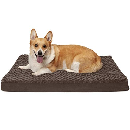 - FurHaven Pet Dog Bed | Deluxe Cooling Gel Memory Foam Orthopedic Ultra Plush Mattress Pet Bed for Dogs & Cats, Chocolate, Large
