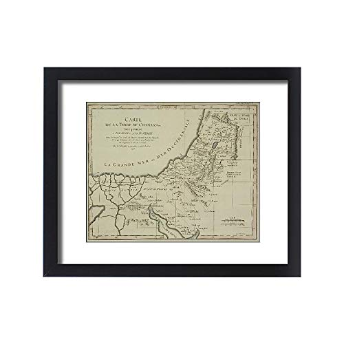 - Media Storehouse Framed 20x16 Print of Antique map of holy Land with Nile River Delta (13609445)