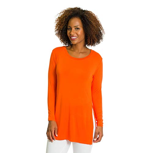 Flying Colors Women's Side Slit Long Sleeve Tunic Top