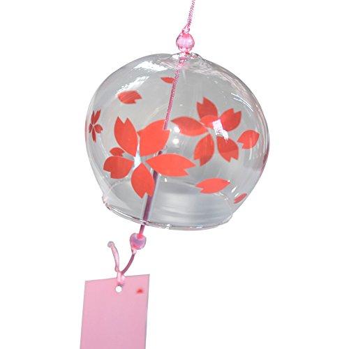 EliteShine Japanese Edo Furin Wind Chimes Handmade Decor Birthday Gift Suncatcher (Sakura) from EliteShine