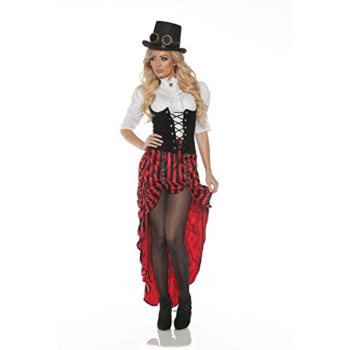 Women's Steampunk Costume - Red, Small -