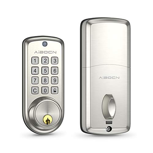 Aibocn Smart Indoor Lock, Keyless Entry Indoor Lock, Electronic Keypad Deadbolt Lock with Auto-Lock,10 Customizable User Codes,Easy to Install and Program,Security Smart Indoor Lock for Bedroom Garage