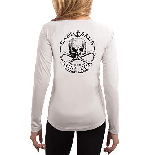- SAND.SALT.SURF.SUN. Outer Banks Skull Women's UPF 50+ Long Sleeve T-Shirt X-Large White