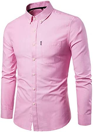 Camisa de los Hombres, Camisa Rosada Hombres Chemise Homme ...