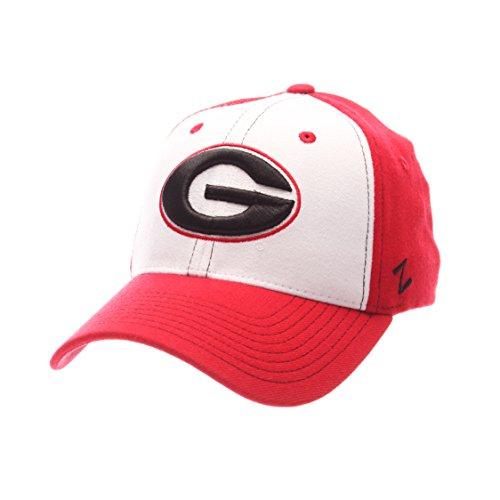 NCAA Georgia Bulldogs Adult Men Bleacher Z-Fit Hat,Med/Large,White/Tc
