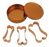 Fox Run Brands 21000 Copper Dog Bone Cookie Cutter Set